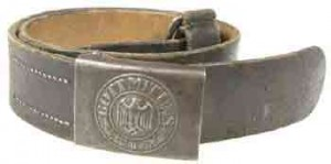 Standard issue enlisted continental leather belt with army buckle.